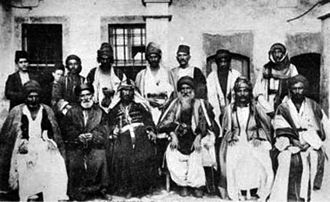 Yazidis - Yazidi leaders and Chaldean clergymen meeting in Mesopotamia, 19th century