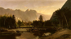 William Keith (artist) - Image: Yosemite Valley by William Keith, 1875