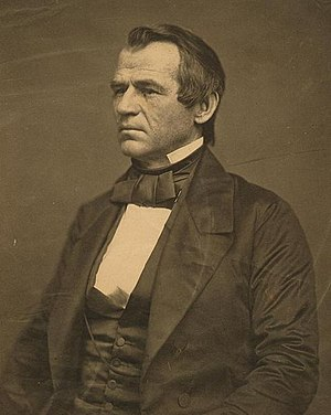 Pre-Civil War photo of Johnson.
