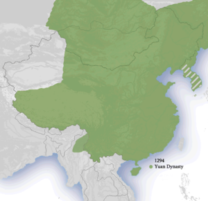 Korea under Yuan rule - The client state Goryeo in modern Korea within the Yuan dynasty, circa 1294.