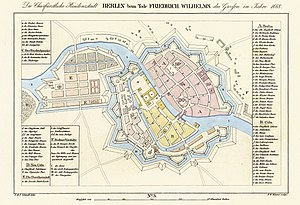 Berlin - Map of Berlin in 1688