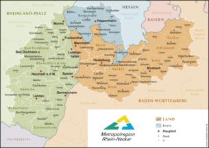 Mannheim Bundesland Karte.Metropolregion Rhein Neckar Wikipedia