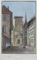 Zentralbibliothek Solothurn - Oestliche Seite des Rathauses La Façade orientale de lHôtel de ville - a0331.tif