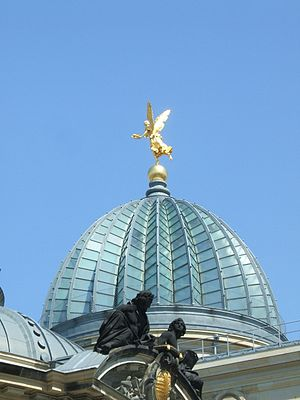 """Dresden Academy of Fine Arts - The glass dome of the main building - colloquially referred to as """"Lemon Squeezer"""""""