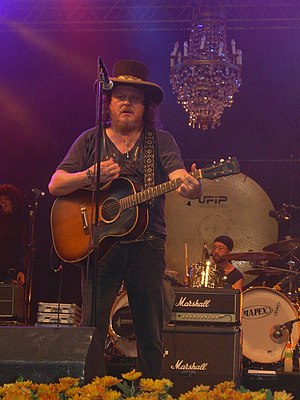 Zucchero Fornaciari - Zucchero Fornaciari playing at the Skanderborg Festival, Denmark, 2007.