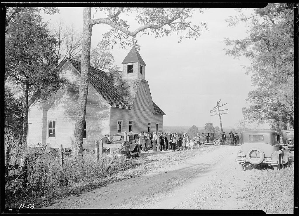 """File:""""A little country church, Sharps Station M.E. Church ..."""