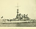 """U. S. BATTLESHIP OREGON IN NEW YORK BAY"" 1898 photo, from book- Select New York. One hundred albertype illustrations (IA selectnewyorkone00witte) (page 15 crop).jpg"