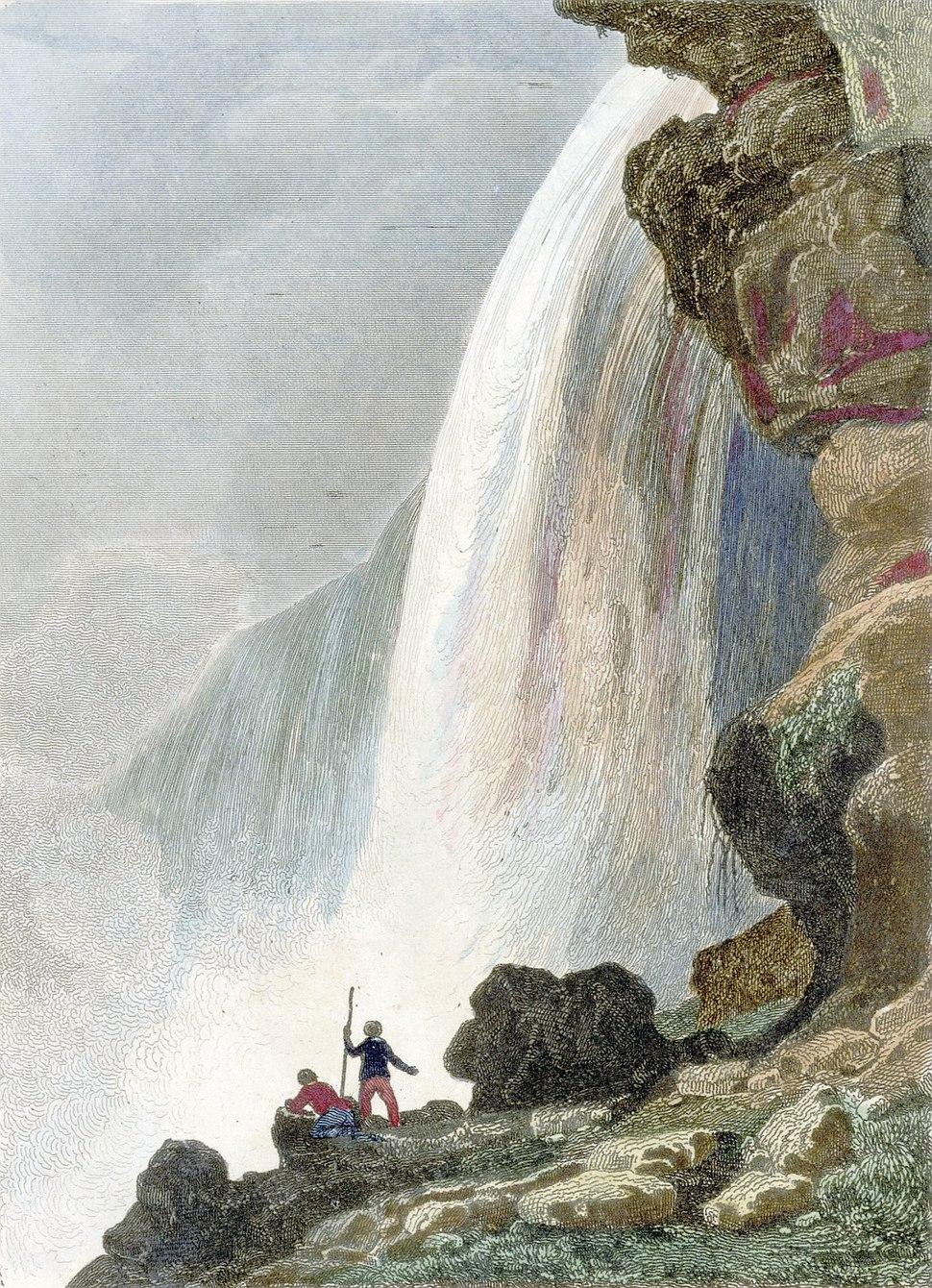 """Voute sous la Chute du Niagara - Niagara Falls"" by Jacques-Hippolyte van der Burch"