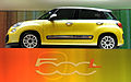 """ 12 - Italian fashion trend cars - Yellow Minivan Fiat 500L side views of automobile.JPG"