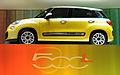 """ 12 - Italian fashion trend cars - Yellow Minivan Fiat 500L side views of automobile.JPG"