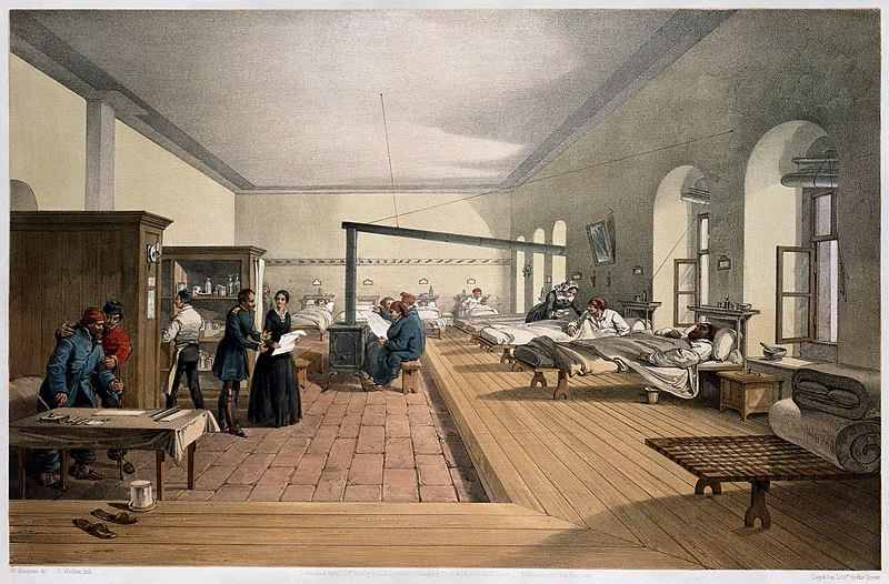 File:'One of the wards in the hospital at Scutari'. Wellcome M0007724 - restoration, cropped.jpg