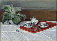'The Tea Service' oil on canvas painting by Claude Monet, 1872.jpg