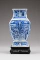 Östasiatisk keramik. Vas på fotställ - Hallwylska museet - 95794.tif