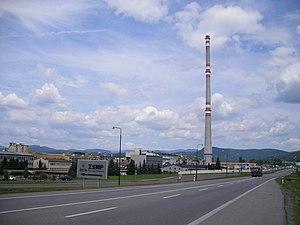 Žiar nad Hronom - Aluminium processing plant in Žiar nad Hronom
