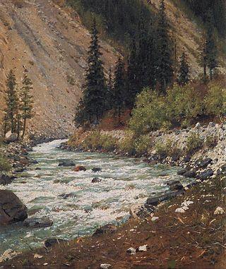 Горный ручей в Кашмире, 1875