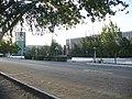 Город Турткуль. Вид куранта и здании Админстрации района.JPG