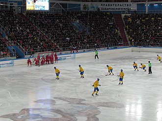 Sports venue - Arena Yerofey in Khabarovsk, where the 2015 Bandy World Championship was held and the 2018 Bandy World Championship will be