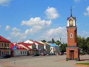 Shchuchyn - Svabody Square in Ščučyn