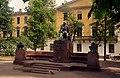 Юнкерское училище. Штауберт и памятник Лермонтову.jpg