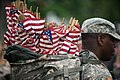 """""""Flags in"""" with The Old Guard in Arlington National Cemetery (17951229965).jpg"""