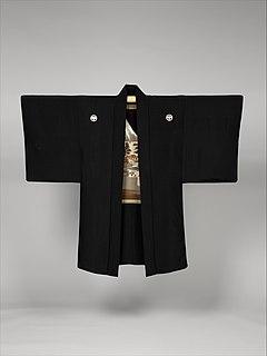 <i>Haori</i> traditional Japanese hip- or thigh-length kimono-style jacket