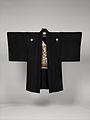 黒平絹地富士図羽織 男物-Man's Formal Jacket (Haori) MET DP330781.jpg