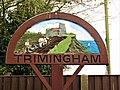 -2019-11-05 The village sign, Mundesley Road, Trimingham.JPG