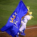 -WorldSeries Game 1- Sluggerrr celebrates (22873991662).jpg