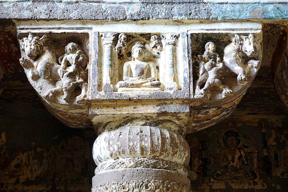 013 Cave 19, Buddha Meditating (33535639164)