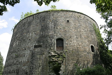 "Bastion at Tournai called ""Tour de Henri VIII"" or the ""Grosse Tour"", built at Wolsey's command c. 1515. 01 Tournai TO2aJPG.jpg"