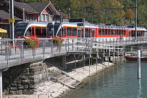 Brienz railway station - Brünig line trains in the station