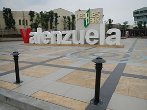 Valenzuela People's Park - Image: 09774jf Peoples Park Town Center Roads Valenzuela Cityfvf 02