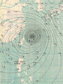 1,August,1956 Typhoon weather map.png