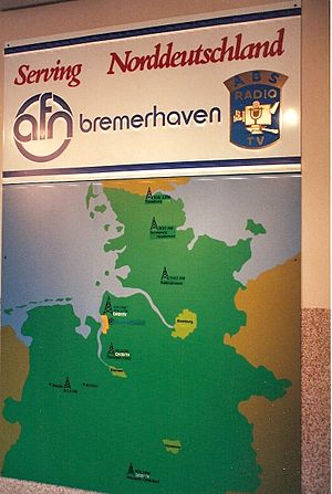 AFN Bremerhaven -  AFN Bremerhaven - The Station's Coverage Area of Northern Germany