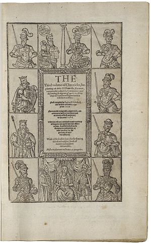Richard II (play) - The 1587 edition of Holinshed's Chronicles of England, Scotlande, and Irelande
