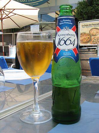 Beer in France - Kronenbourg 1664.