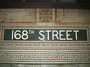 City Line Avenue >> 168th Street station (New York City Subway) - Wikipedia