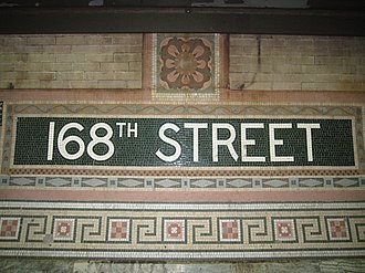 168th Street (New York City Subway) - Image: 168th Street IRT Broadway 1