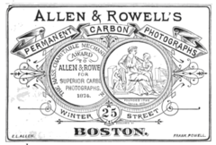 1876 Allen and Rowell photographers advert Winter Street Boston.png