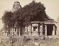 1885 photo of the shrine walls of the Bavanadhvaja Temple, Sarotra.jpg