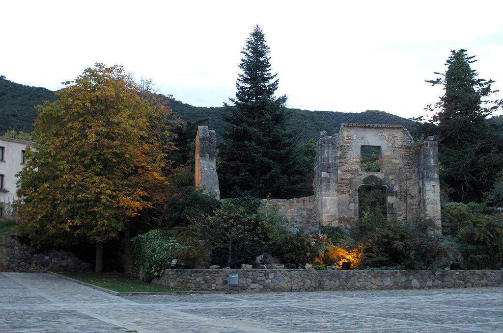 189 Monestir de Poblet, ruïnes del palau de l'abat.jpg