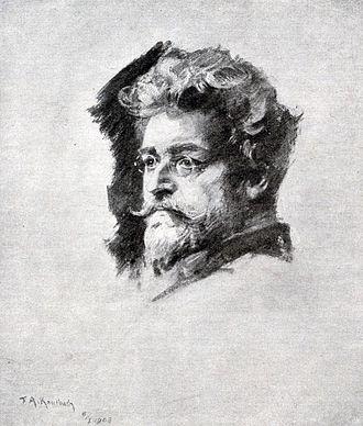 Kaufbeuren - Ludwig Ganghofer 1908 painted by Friedrich August von Kaulbach
