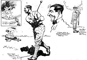 Walter Hagen - A sketch of Hagen by syndicated cartoonist Robert W. Edgren in 1922