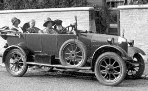 Bertha Phillpotts - Bertha Phillpotts' Morris Cowley car Freda (here being driven by her cousin Mary Clover), c. 1930