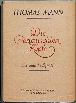 1940 Thomas Mann Die vertauschten Köpfe Orig.-...