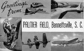Marlboro County Jetport - World War II Palmer Field Postcard