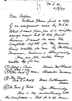 Genesis Suite - Image: 1944 02 09 letter Shilkret to his son p 1
