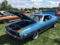 1972 AMC Javelin AMX 401 4-speed in Jetset Blue at 2015 AMO show 1of5.jpg