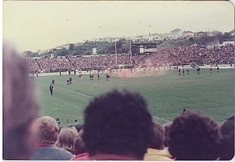 1981 South Africa rugby union tour of New Zealand and the United States - A smoke-bomb at Eden Park.