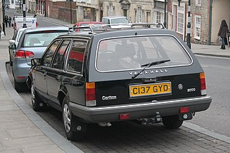 Vauxhall Carlton - Post-facelift Vauxhall Carlton Mark I estate